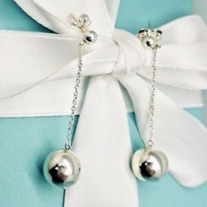 Tiffany & Co. Silver Ball Drop Earrings